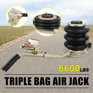 3 Ton Triple Bag Air Jack Pneumatic Jack 6600lbs Quick Lift Heavy Duty Jacking