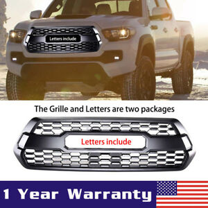 For 2016 2019 Toyota Tacoma Trd Pro Oem Front Bumper Grill Grille W Letter