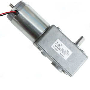 Dc12v 24v Single Double Shaft Gw600 Turbo Worm Gear Motor With Long Tail Shaft