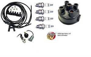 Distributor Ignition Tune Up Kit John Deere 1010 2010 Tractor Delco Clip Held