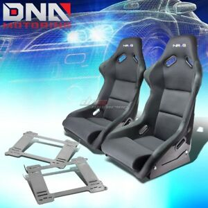 Nrg Fiberglass Bucket Racing Seats full Stainless Bracket For 92 99 Bmw E36 2dr