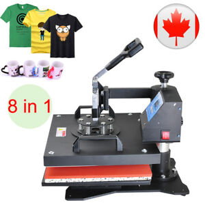8in1 Heat Press Machine For T shirts 15 x11 4 Kit Sublimation Swing Away 1250w