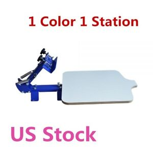 Usa Stock 1 Color 1 Station T shirt Silk Screen Printing Machine