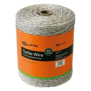 Turbo Wire Fence Conductive Mixed Metal Strand Portable Fencing Protection White