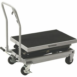 Strongway 2 speed Hydraulic Rapid Lift Xt Table Cart 1000 lb Capacity Free Ship
