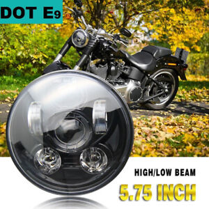 5 3 4 5 75 Inch 60w Daymaker Projector Led Headlight Harley Davidson Motorcycle