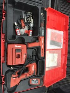 Hilti Dx351 Bt Powder Actuated Tool And Xbt 4000 a Cordless Drill Combo