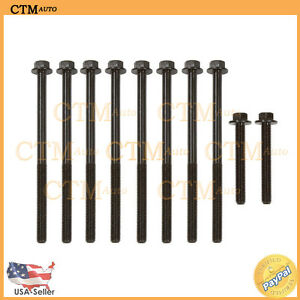 Cylinder Head Bolts For 96 02 Chevrolet Pontiac Oldsmobile Buick 2 4l I4 Malibu