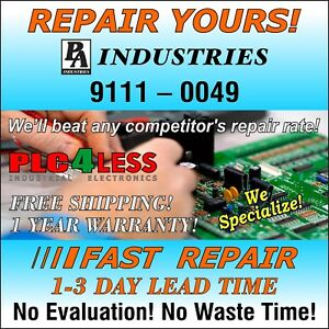 Pa Industries Servo Feed 9111 0049 Servo Drive Fast Repair Service