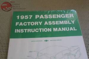 57 Chevy Bel Air Convertible 150 210 Nomad Factory Assembly Manual New