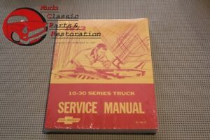 Chevy Pickup 1972 Truck Shop 10 30 Series Service Manual