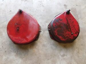 Ih Farmall M Brake Covers With Bands Nice Pair Antique Tractor