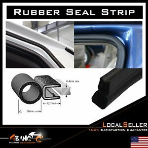 Car Auto Rubber Seal Weather Stripping Protector W metal Lok Trim Universal 15ft