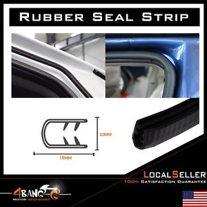 Auto Door Edge Trim Seal Protector Defend Weather Stripping Guard U channel 20ft