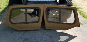 Jeep Wrangler Tan Spice Yj Soft Upper Doors Slide Windows 87 95