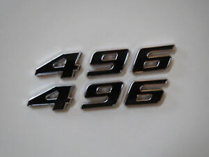 Chevrolet 496 Stroker Engine Id Fender Hood Scoop Quarter Emblems Black