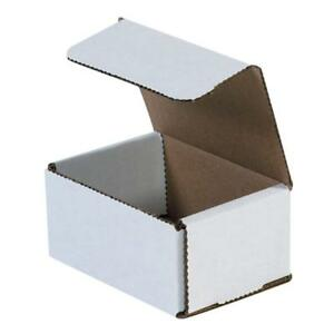 50 Pack Small Shipping Boxes Cardboard 4x3x2 Corrugated Delivery Supplies Strong