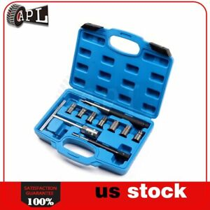 Diesel Injector Seat Cutter Set For Ford Bosch Car Repair Tool 10 Pcs