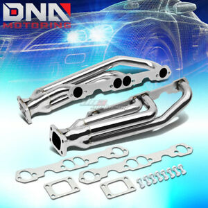 For Chevy Sbc 283 327 350 400 T3 Performance Twin Turbo Charger Manifold Exhaust