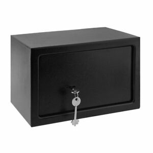 8 5 L Home Steel Key Security Money Cash Hidden Wall floor Safe Box W Key Lock