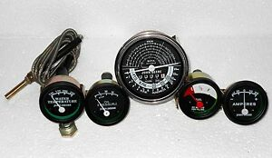 John Deere Tachometer Temp Oil Amp Fuel Gauge Set