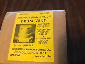 Justrite 8 100 Drum Vent Dual Action Brass Heavy Duty