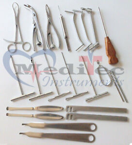 Set Of 24 Pieces Asortead Orthopedic Surgical Instruments Custom Made Set