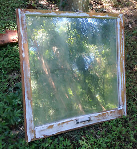 Vintage Sash Wood Reclaimed Window Frame Pinterest Rustic Antique Mirror L
