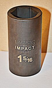1 5 16 Inch Armstrong Usa 20 242 1 2 Inch Drive 6 Point Deep Impact Socket