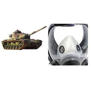 Full Face Respirator Anti dust Chemical Safety Gas Mask With Cotton Filter Vb