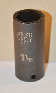 1 1 16 Inch Armstrong Usa 20 234 1 2 Inch Drive 6 Point Deep Impact Socket