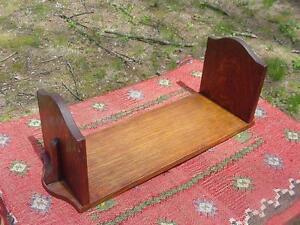 Antique Mission Quartersawn Oak Arts Crafts Bookends Book Rack Glowing Patina