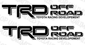 Trd Off Road Decals Vinyl Stickers 1 Pair Set Toyota Tundra Tacoma Truck