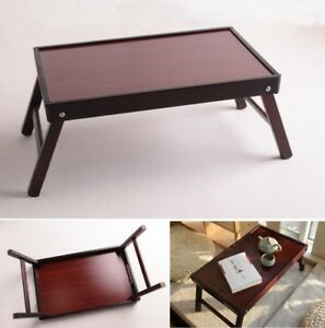 Portable Wood Folding Laptop Notebook Tables Stand School Office Furniture Small