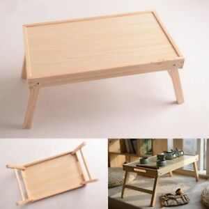 Portable Wood Folding Laptop Notebook Table Stand School Offices Furniture Large