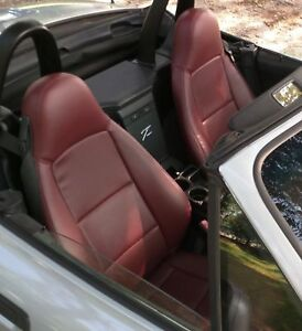 1996 2002 Bmw Z3 Replacement Leather Seat Covers Maroon burgundy