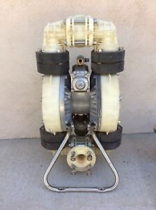 2 Chemical Pump 100 Psi 120 Gpm Pneumatic Air Diaphragm Pump Used W extra Pipes