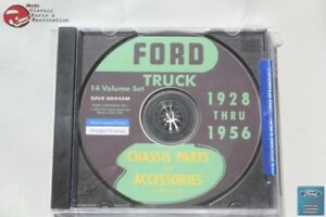 1928 56 Ford Truck Chassis Parts Accessories Catalogue Cd Rom Disc Pdf New