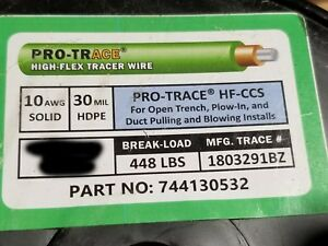 Pro Trace Hf ccs Pe30 10awg High Flex Open Trench Ccs Tracer Wire Green 100ft