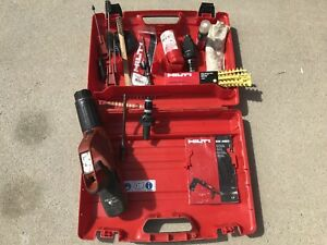 Hilti Dx 460 Powder Actuated Nail Gun W x 460 f10 Nose Many Extras Look