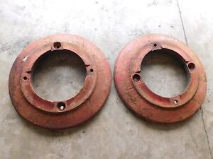 1949 Oliver 70 Rear Wheel Weights Pair H1235b Antique Tractor