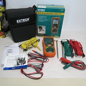 Extech 382252 Earth Ground Resistance Tester Kit With Bag And Probes