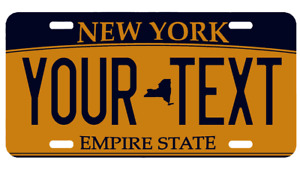 Personalized Custom Aluminum License New York Ny Plate Car Tag Your Text