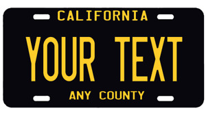 Personalized Custom Aluminum License California Ca Plate Car Tag Your Text