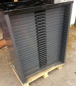 Letterpress 24 Drawer Metal Type Cabinet With California Job Cases