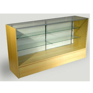 Economy Maple Glass Display Case Showcase 70 L New York Pickup Only