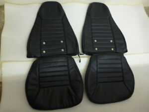 1970 1978 Datsun 240z 260z 280z Leather Replacement Black Seat Covers