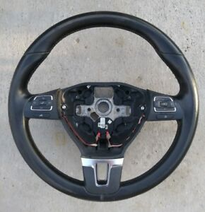 Vw Leather Steering Wheel With Multifunction 5c0 419 091 B