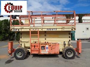 Jlg 500rts 50ft Rough Terrain Scissor Boom Man Aerial Lift 4x4