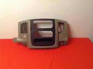 02 05 Dodge Ram 1500 2500 3500 Dash Radio Bezel Taupe Tan